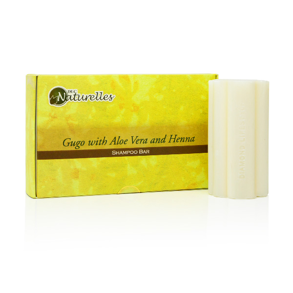Naturelles Gugo Shampoo Bar with Aloe Vera & Henna 3s